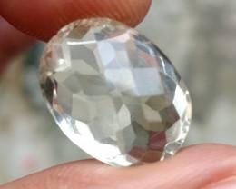 GREEN AMETHYST CHECKERED CUT Natural Gemstone VA2393