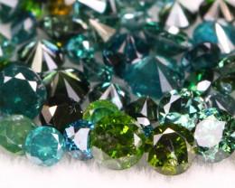 2.05Ct  Natural Fancy Green Color Diamond Lot BM242
