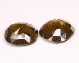 11.42Ct  Natural Grey Color Pear Diamond Pair BM244