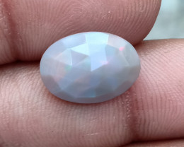 ETHIOPIAN OPAL RARE COLOR ROSE CUT GEMSTONE NATURAL+UNTREATED VA2439