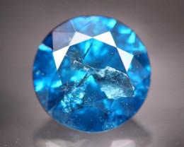 1.01Ct  Natural Round Cut Blue Color Diamond TR10