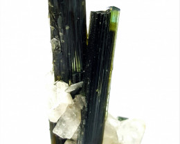 Lovely Damage free Twin Bicolor Tourmaline Double termination 85 Cts- Pak