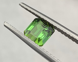 ''NO RESERE'' 1.55 Cts Top Quality Parrot Green Color Tourmaline
