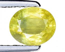 0.82 Ct Yellow Sapphire Top Quality  Gemstone. YS 17