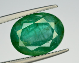 GIL CERT~6.42 Ct Natural Zambia Emerald Gemstone