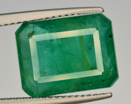 GIL CERT~6.68  Ct Natural Zambia Emerald Gemstone
