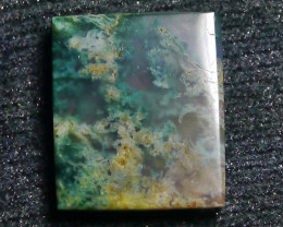 28.55 CT UNTREATED Beautiful Indonesian Moss Agate Picture