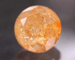0.90Ct Natural Round Cut Orange Color Diamond D0505