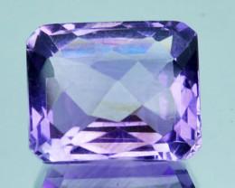8.70Ct Natural Purple Amethyst Octagon Checker board Bolivian Gem