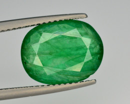 GIL CERT~4.10 Ct Natural Zambia Emerald Gemstone