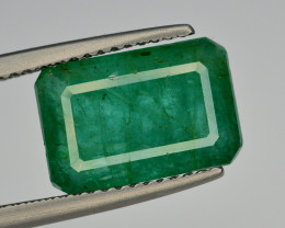 GIL CERT~4.79 Ct Natural Zambia Emerald Gemstone