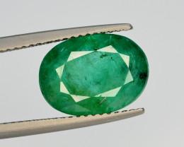 GIL CERT~4.30 Ct Natural Zambia Emerald Gemstonee