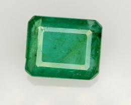 GIL CERT~4.01 Ct Natural Zambia Emerald Gemstone