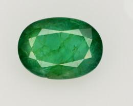GIL CERT~4.16 Ct Natural Zambia Emerald Gemstone