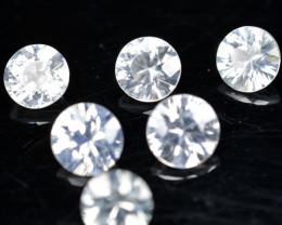 4.10Ct Natural White Zircon Diamond Cut 5mm Parcel