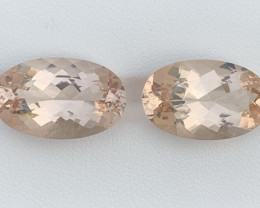 22.53 Carats Morganite Gemstones Pairs