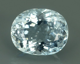 4.90 CTS-EXQUISITE NATURAL UNHEATED OVAL-CUT BLUE -AQUAMARINE~BEAUTY!!