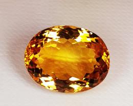 7.25 ct Top Quality Gem  Golden Whisky Color Natural  Citrine