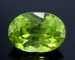 NR Auction 1.95 Carats Top Quality Oval Shape Peridot Gemstone