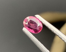 """""""No Reserve"""" Pigeon Blood Unheated/Untreated Natural Ruby 0.58 Carats."""