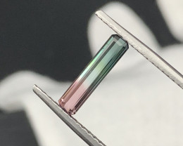 Afghan Top Quality Natural Watermelon Tri Color Tourmaline 1.30 Carats