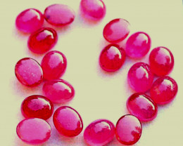 29.8 Tcw. Ruby Composite Cabochons (7.5mm x 6.0) - Gorgeous