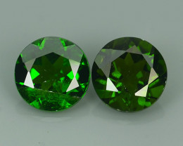2.70 Cts MARVELOUS RARE ROUND 7 MM NATURAL TOP GREEN- CHROME DIOPSIDE DAZZL