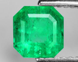 1.31 Cts NATURAL EARTH MINED GREEN COLOR COLOMBIAN EMERALD LOOSE GEMSTONE