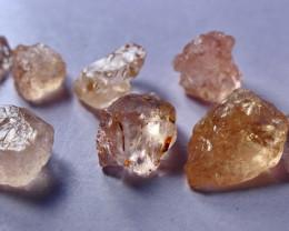 50.60 CT Natural - Unheated Peach Pink  Morganite Rough Lot
