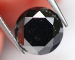 1.04Ct Natural Fancy Black Carbonado Diamond D0605