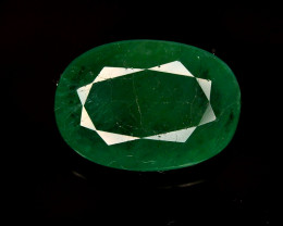 GIL CERT~4.64 Ct Natural Zambia Emerald Gemstone
