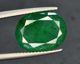GIL CERT~4,54 Ct Natural Zambia Emerald Gemstone