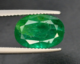 GIL CERT~4.14 Ct Natural Zambia Emerald Gemstone