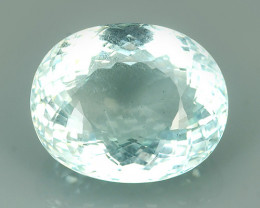 CERTIFIED 20.88 CTS ATTRACTIVE NATURAL TOP LUSTER GREENISH BLUE  AQUAMARINE