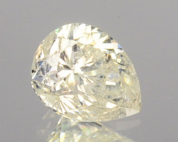 0.17 Cts Natural Untreated Diamond Fancy Yellow Pear Cut Africa
