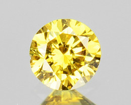 0.09 Cts Natural Untreated Diamond Fancy Yellow Round Cut Africa