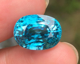 AAA Lab Certified 16.71ct. Blue Cambodian Zircon