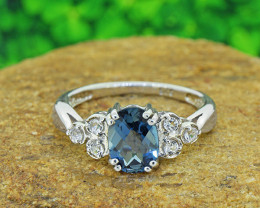 Natural Topaz 925 Sterling Silver Ring SSR0550