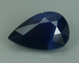 1.60 CTS AWESOME BLUE SAPPHIRE FACET GENUINE HEATED MADAGASCR!!