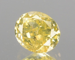 0.27 Cts Natural Untreated Diamond Fancy Yellow Oval Cut Africa