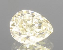 0.32 Cts Natural Untreated Diamond Fancy Yellow Pear + $50 for AIG