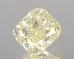 0.30 Cts Natural Untreated Diamond Fancy Yellow Cushion Cut Africa
