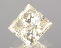 0.31 Cts Natural Untreated Diamond Fancy Yellow Princess Cut Africa