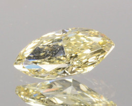 0.27 Cts Natural Untreated Diamond Fancy Yellow Marquise Cut Africa