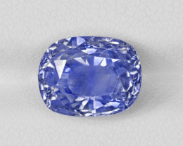 Blue Sapphire, 7.27ct - Mined in Kashmir | Certified by GRS