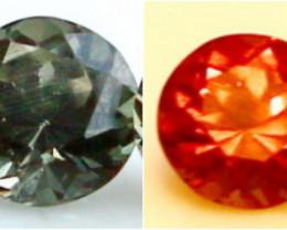 Color Change Garnet Pair  Gemstone Natural Unheated