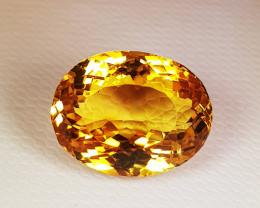 8.96 ct Top Quality Gem Golden Whisky Color  Natural Citrine