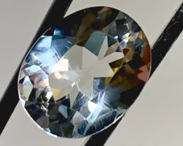 3.20ct  Silver White Topaz - Sparkling Flawless gem VVS