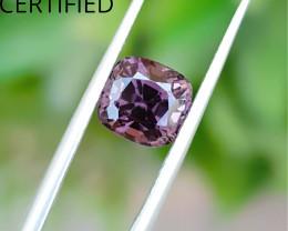 2.30 Ct Natural Purple Gray Transparent Burma's Spinal Gemstone