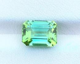 3.25 Ct Natural Bi Color Transparent Tourmaline Gemstone